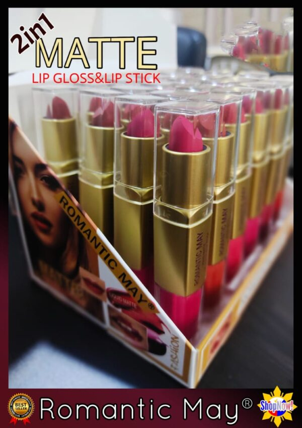 Romantic May 2 in 1 Lipstick and Lip Gloss