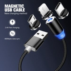 Magnetic USB Cable Charger / For android / iPhone