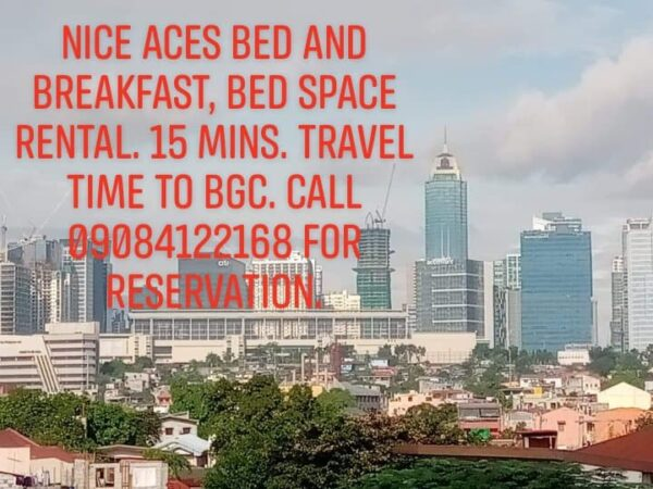 NICE ACES BED AND BREAKFAST, BED SPACE RENTALS