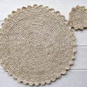 Placement Raffia With Coaster