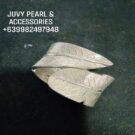 leaf designed bracelet silver...