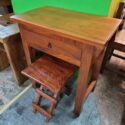 Wooden Table with Drawer and...